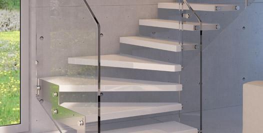 escalier flottant en acier rintal recta. Black Bedroom Furniture Sets. Home Design Ideas