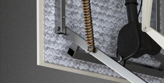 escalier escamotable escalier escamotable paroi rintal. Black Bedroom Furniture Sets. Home Design Ideas