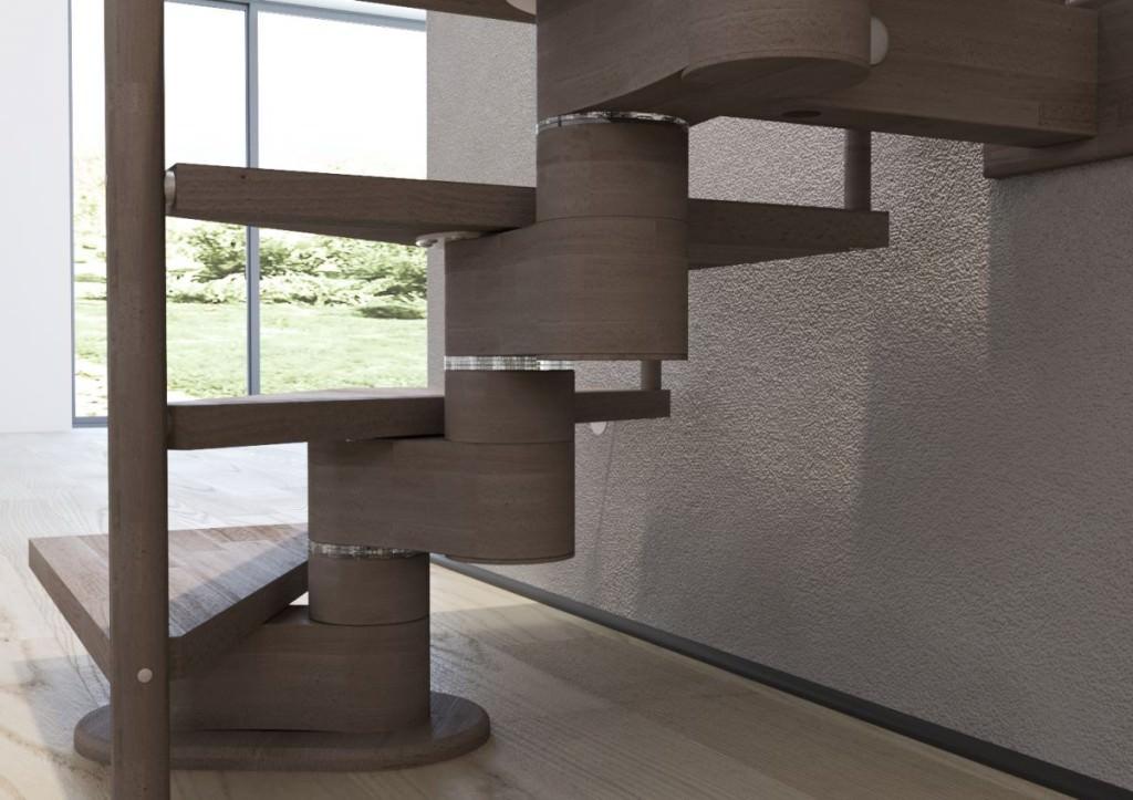 escalier flottant en bois rintal gamma. Black Bedroom Furniture Sets. Home Design Ideas