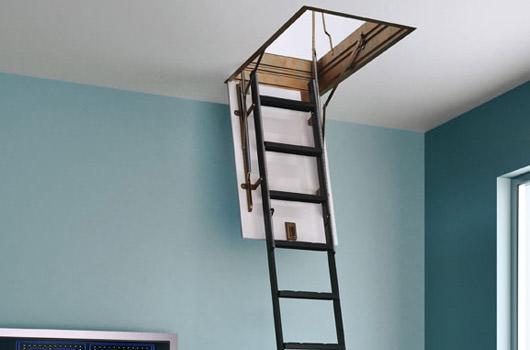 escalier escamotable electrique si vous voulez utiliser les combles comme espace de remisage ou. Black Bedroom Furniture Sets. Home Design Ideas