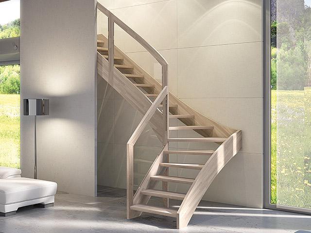 escalier en bois autoportant rintal mya. Black Bedroom Furniture Sets. Home Design Ideas