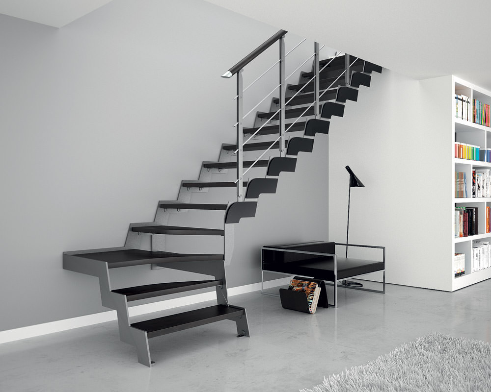 escalier en fer sur mesure rintal loft. Black Bedroom Furniture Sets. Home Design Ideas