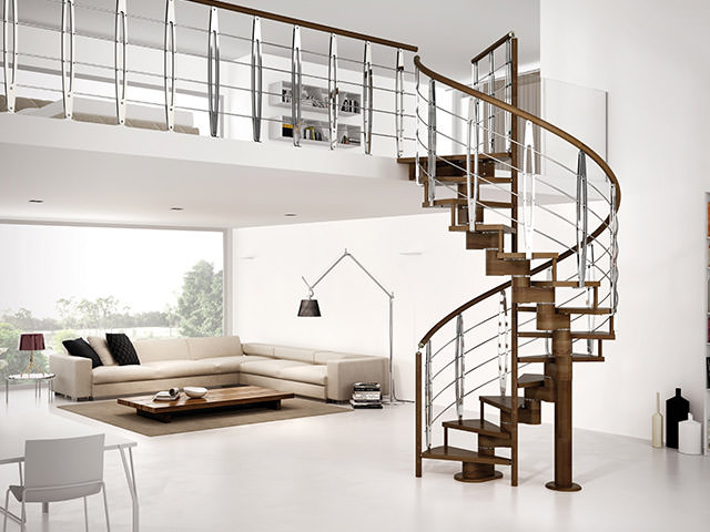 Escalier colima on rintal spiral gamma for Progetti interni di case moderne