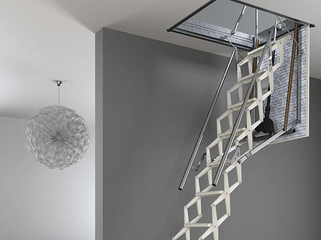 escalier escamotable motoris rintal escalmatic. Black Bedroom Furniture Sets. Home Design Ideas