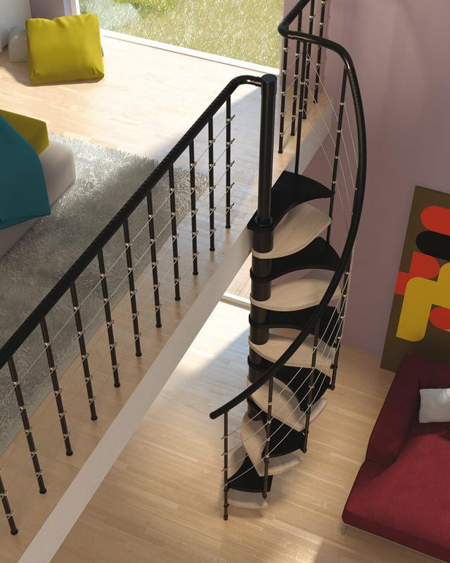 Escalier 180 degr s escalier faible encombrement rintal trio 180 - Escalier faible encombrement ...