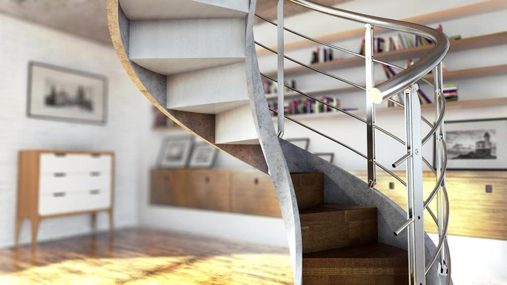 escaliers h lico daux en b ton rintal. Black Bedroom Furniture Sets. Home Design Ideas
