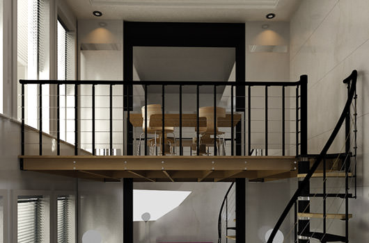 escalier droit escalier en colima on mezzanines. Black Bedroom Furniture Sets. Home Design Ideas